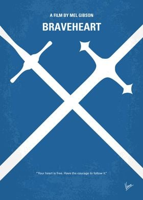 No507 My Braveheart minimal movie poster When his secr ...