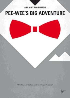 No511 My Pee Wees Big Adventure minimal movie poster W ...
