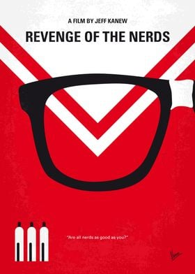 No504 My Revenge of the Nerds minimal movie poster At ...