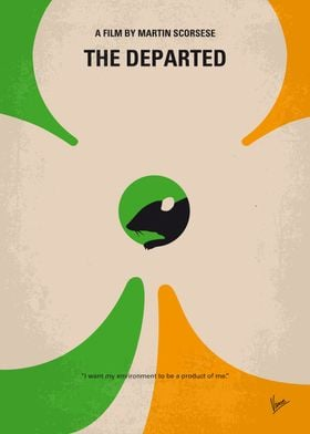 No506 My The Departed minimal movie poster An undercov ...