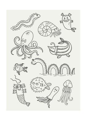 Happy Sea Monsters