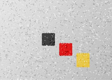 Germany Color of the Germany, Belgium flag as a mosaic. ...
