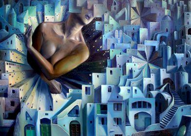 AFAN Alessandro Fantini The Nights of Alcandia Oil on c ...