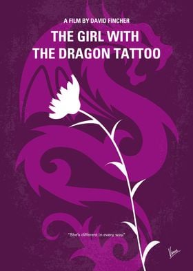 No528 My The Girl with the Dragon Tattoo minimal movie  ...