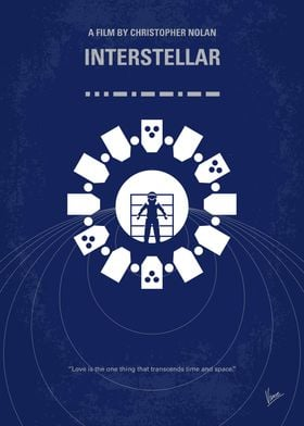 No532 My Interstellar minimal movie poster A team of e ...
