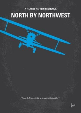 No535 My North by Northwest minimal movie poster A hap ...