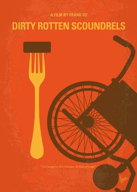 No536 My Dirty Rotten Scoundrels minimal movie poster  ...