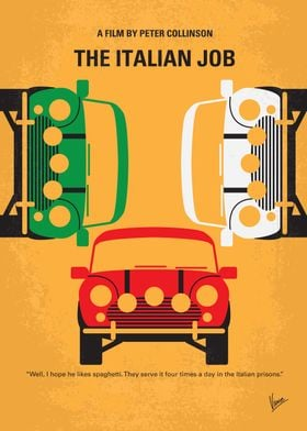 No279 My The Italian Job minimal movie poster After be ...