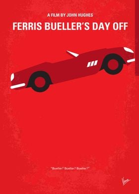 No292 My Ferris Bueller's day off minimal movie poster ...