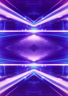 Super colorful abstract geometric long time exposure ph ...