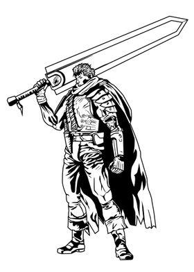 The big sword.Gatzu fanart based on the anime/manga Ber ...