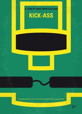 No544 My Kick-Ass minimal movie poster Dave Lizewski i ...