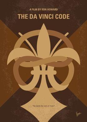 No548 My Da Vinci Code minimal movie poster A murder i ...