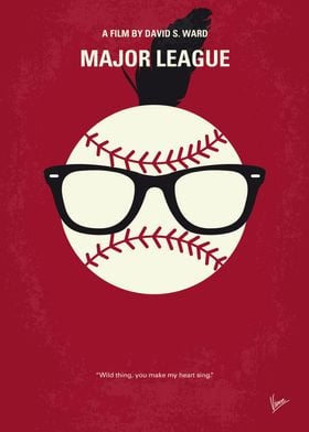 No541 My Major League minimal movie poster The new own ...