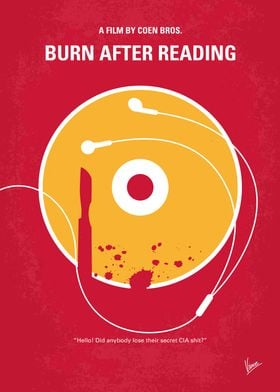 No547 My Burn After Reading minimal movie poster A dis ...