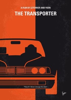 No552 My The Transporter minimal movie poster Frank is ...