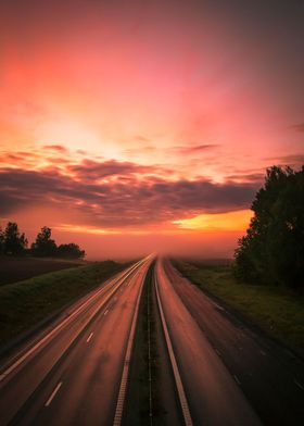 Highway into the mist