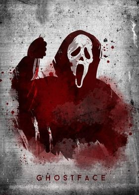 Ghost face print - from cult movie Scream