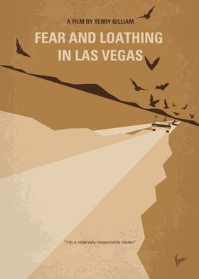 No293 My Fear and loathing Las vegas minimal movie post ...