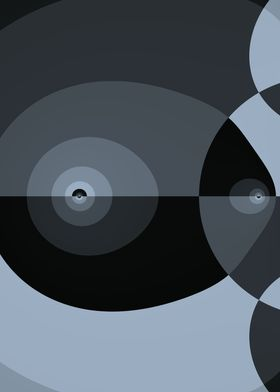 Black and gray geometric design
