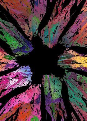 Multicolor star abstract design