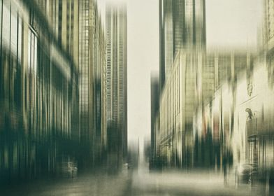 Flux. Chicago city streets, manipulated with texture a ...