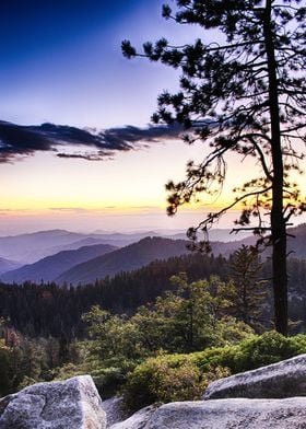 Sunset at Sequoia National Park