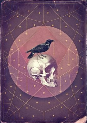 Crow and Skull Collage