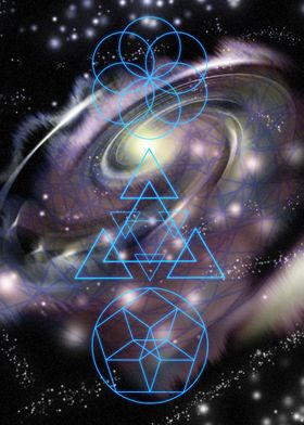 Study in sacred geometry.  Three different sacred patte ...