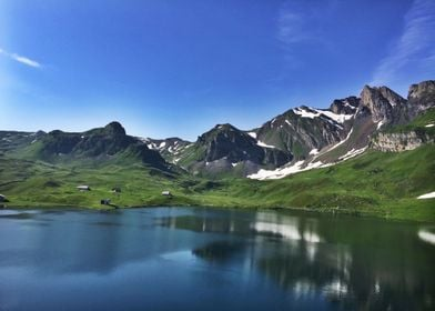 Mountain Lake @ Melchsee Frutt