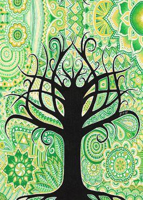tree, arbre, green, vert, esprit, espoir, yellow, jaune ...