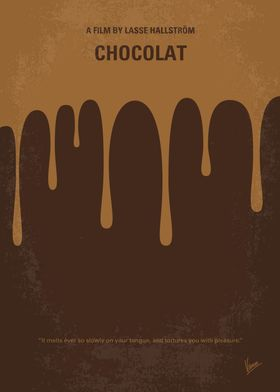 No567 My Chocolat minimal movie poster A woman and her ...