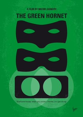 No561 My The Green Hornet minimal movie poster Followi ...