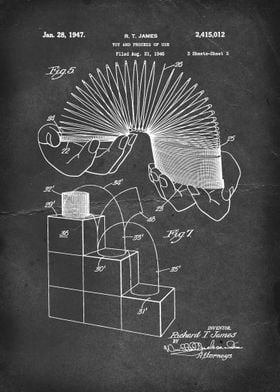 Slinky (Toy and Process of Use) - Patent by R. T. James ...