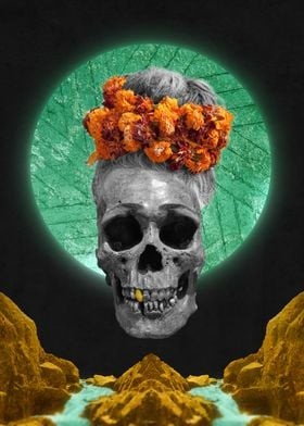 Spiritual Skull Of The Gold Land And The Millstone