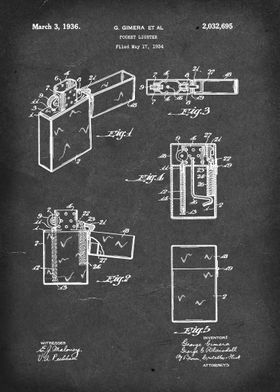Pocket Lighter (Zippo) - Patent by G Gimera (et al) - 1 ...