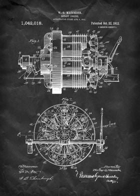 Rotary Engine - Patent by W. G. Macomber - 1912