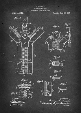 Separable Fastener (Zipper) - Patent by G. Sundback - 1 ...