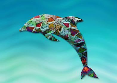 Animal Mosaic - The Dolphin