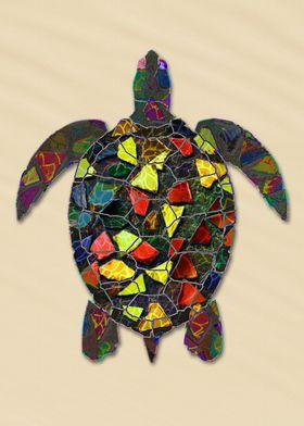 Mosaic Animal - The Turtle