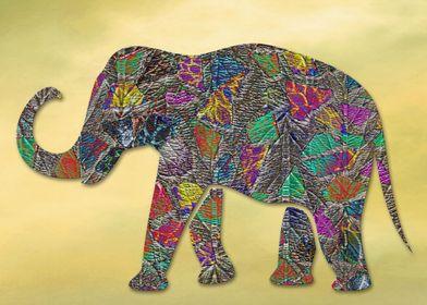 Animal Mosaic - The Elephant