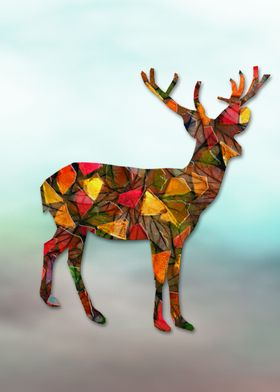 Animal Mosaic - The Deer
