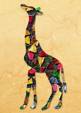 Animal Mosaic - The Giraffe