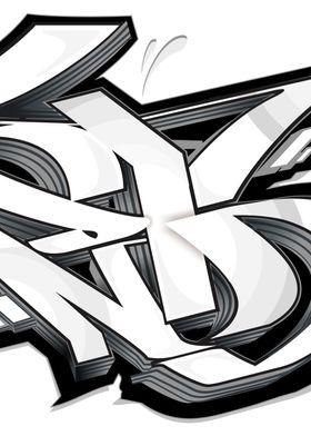 Graffiti white