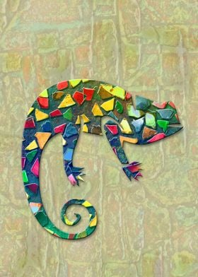 Animal Mosaic - The Chameleon