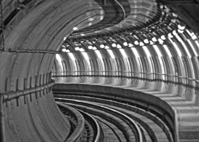 Los Angeles subway tunnel