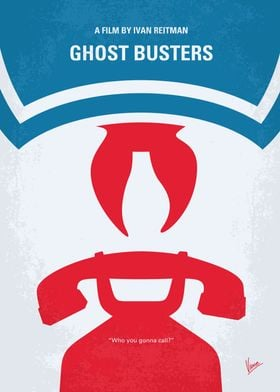 No104 My Ghostbusters minimal movie poster Three unemp ...