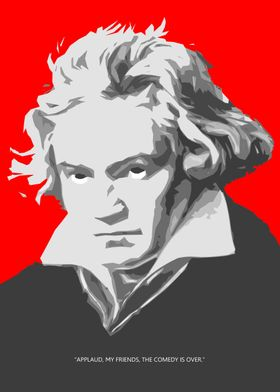 Simplified portrait of the fanous composer Beethoven