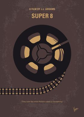 No578 My Super 8 minimal movie poster During the summe ...
