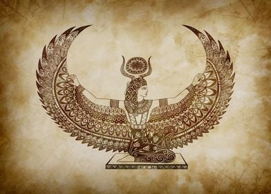 Isis by Art et Be, Egyptian art, papyrus. www.artetbe.c ...